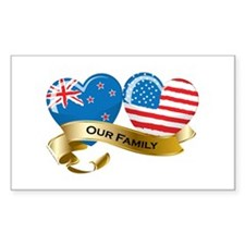 New Zealand/USA Flag_Our Family Decal