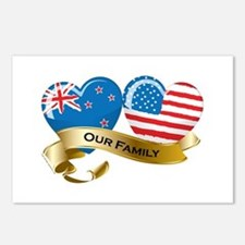 New Zealand/USA Flag_Our Family Postcards (Package