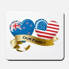 New Zealand/USA Flag_Our Family Mousepad