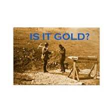 Cute Gold prospector Rectangle Magnet