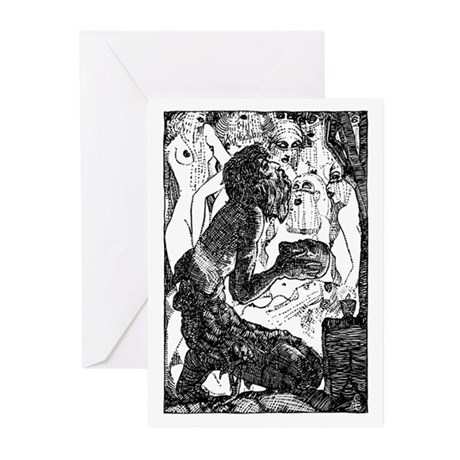 Temptation of Saint Anthony Greeting Cards (Pk of