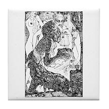 Temptation of Saint Anthony Tile Coaster