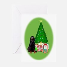 Gordon Setter Christmas Greeting Cards (Package of