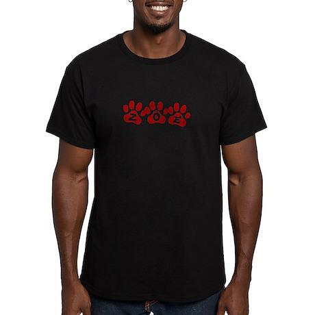 Zoe Paw Prints Men's Fitted T-Shirt (dark)