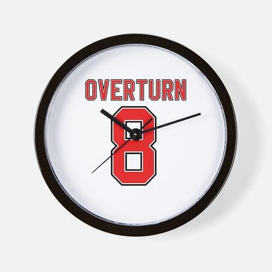 Overturn 8 Wall Clock