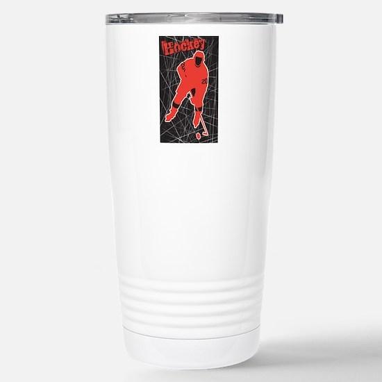 Hockey Stainless Steel Travel Mug