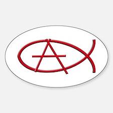 Anarchy Ichthys Oval Decal