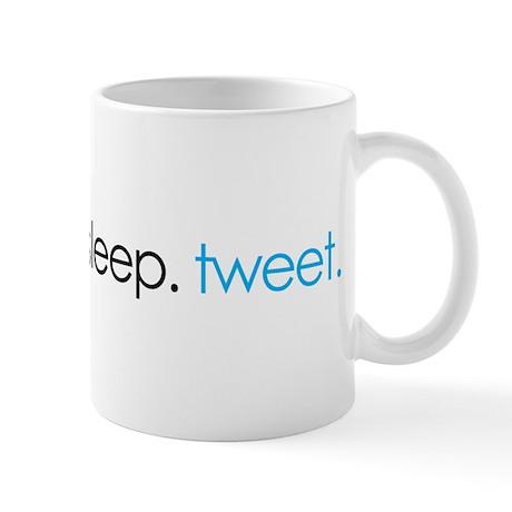 eat. sleep. tweet. funny twitter shirts Mug