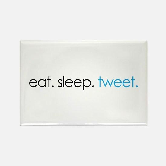 eat. sleep. tweet. funny twitter shirts Rectangle