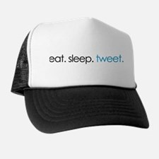 eat. sleep. tweet. funny twitter shirts Trucker Hat