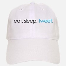eat. sleep. tweet. funny twitter shirts Baseball Baseball Cap
