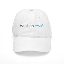 eat. sleep. tweet. funny twitter shirts Baseball Cap
