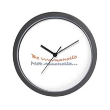 Be Workaholic Wall Clock