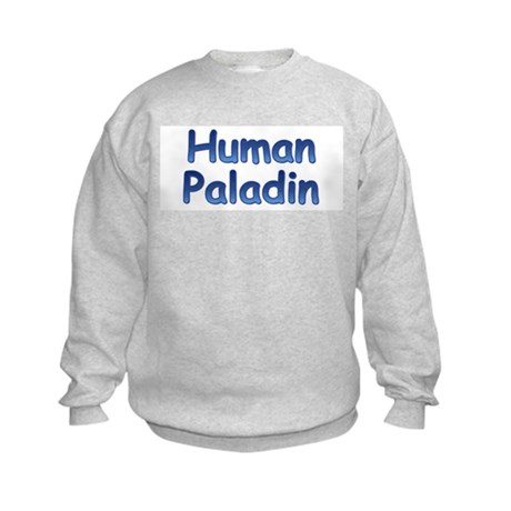 Human Paladin Kids Sweatshirt