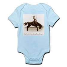 Cowgirl Hero antiqued image Infant Creeper
