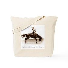 Cowgirl Hero antiqued image Tote Bag