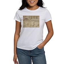 Da Vinci's flying machine 001 T-Shirt
