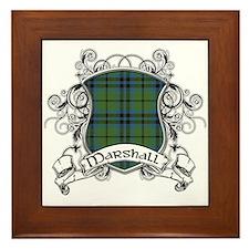 Marshall Tartan Shield Framed Tile