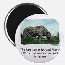 """Spotted Rhino 2.25"""" Magnet (10 pack)"""