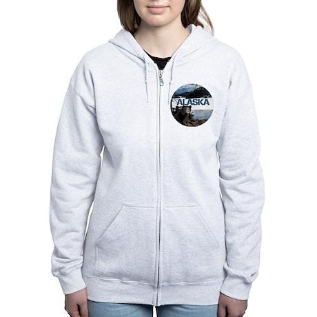 Alaska Bear Logo - Women's Zip Hoodie