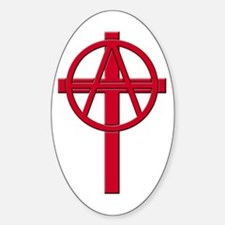 Anarchist Crucifix Oval Decal