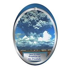 Mt. Pinatubo Oval Ornament