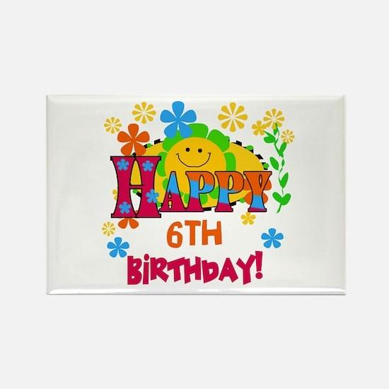 Joyful 6th Birthday Rectangle Magnet