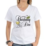 Chardonnay Diva Women's V-Neck T-Shirt