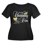 Chardonnay Diva Women's Plus Size Scoop Neck Dark