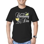 Chardonnay Diva Men's Fitted T-Shirt (dark)