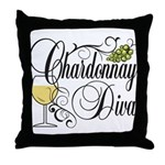 Chardonnay Diva Throw Pillow