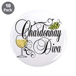 "Chardonnay Diva 3.5"" Button (10 pack)"