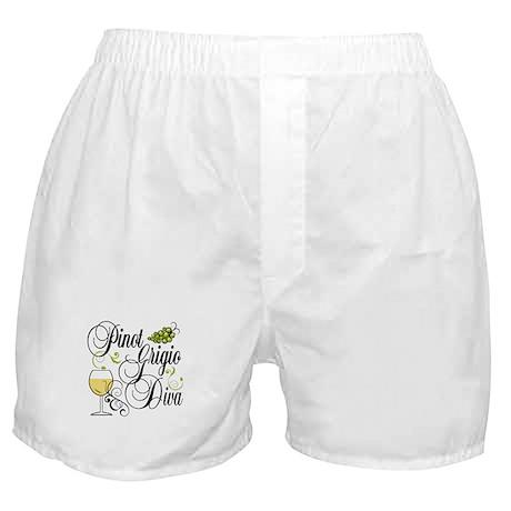 Pinot Grigio Diva Boxer Shorts