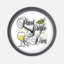 Pinot Grigio Diva Wall Clock