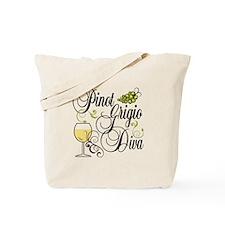 Pinot Grigio Diva Tote Bag