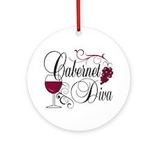 Cabernet Wine Diva Ornament (Round)