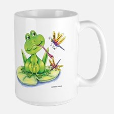 Logan the frog Large Mug
