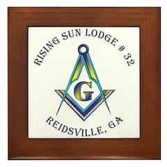 Rising Sun Lodge Framed Tile