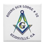 Rising Sun Lodge Tile Coaster