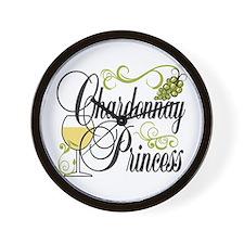 Chardonnay Princess Wall Clock