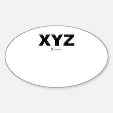 XYZ - Oval Decal