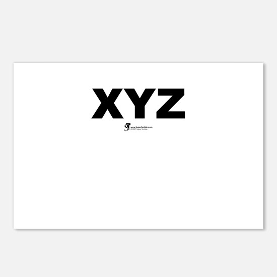 XYZ - Postcards (Package of 8)