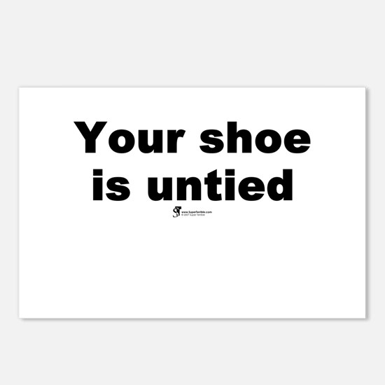 Your shoe is untied - Postcards (Package of 8)