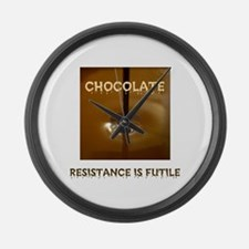 CHOCOLATE ADDICT Large Wall Clock