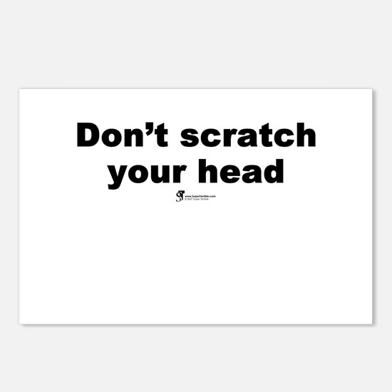 Don't scratch your head - Postcards (Package of 8)