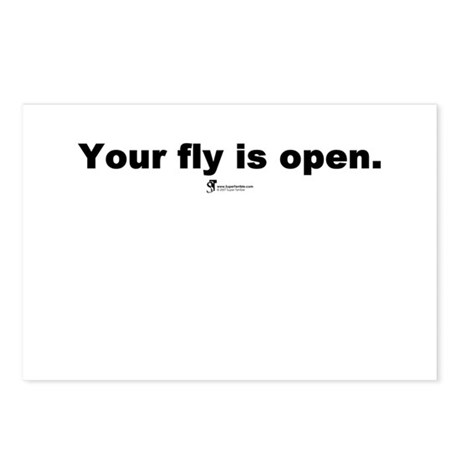 Your fly is open - Postcards (Package of 8)