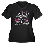 Zinfandel Wine Princess Women's Plus Size V-Neck D