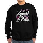 Zinfandel Wine Princess Sweatshirt (dark)