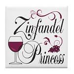 Zinfandel Wine Princess Tile Coaster