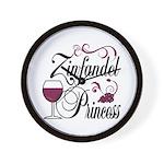 Zinfandel Wine Princess Wall Clock